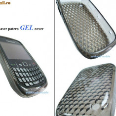 Husa silicon antiradiatii blackberry 8520 curve - Husa Telefon Blackberry, Gri