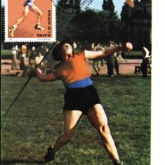Carte maxima atletism, aruncarea sulitei