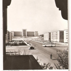 CPI (B266) BUCURESTI, ACADEMIA MILITARA DIN PIATA A. V. SUVOROV, CIRCULATA, 1962 - Carte Postala Muntenia dupa 1918