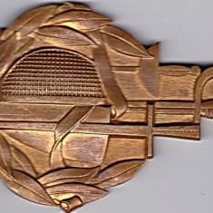 Medalie din bronz masiv cu tema sport SCRIMA - Medalii Romania