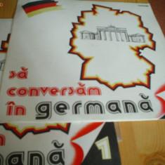 Disc vinyl lp limba germana sa conversam in germana vol. 1 si 2 electrecord - Muzica soundtrack electrecord, VINIL