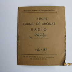 CARNET DE ABONAT RADIO DIN 1971 CU 12 TIMBRE DE 30 LEI - Pasaport/Document