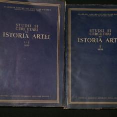 STUDII SI CERCETARI DE ISTORIA ARTEI, 2 VOL - 1-2/1957, 2/1958 - Carte Istoria artei