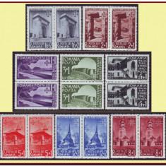 Romania 1940 - Straja Tarii - Vederi, in perechi MNH