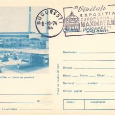 Carte postala(ilustrata)-SLATINA-Uzina de alumina - Carte Postala Muntenia dupa 1918