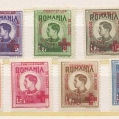 RFL ROMANIA 1945 serie uzuale Mihai I cu supratipar Prizonieri de Razboi Crucea Rosie - Timbre Romania