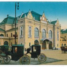 2167 - Banat, ARAD, Railway Station, carriages - old postcard - unused - Carte Postala Banat 1904-1918, Necirculata, Printata