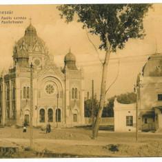 927 - TIMISOARA, SYNAGOGUE and Theatre APOLLO - old postcard - unused - Carte Postala Banat 1904-1918, Necirculata, Printata