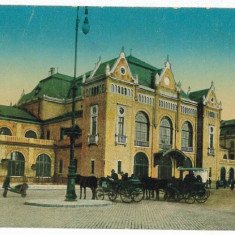 1457 - Banat, ARAD, Railway Station, carriages - old postcard - unused - Carte Postala Banat 1904-1918, Necirculata, Printata