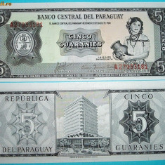 PARAGUAY 1952 - 5 GUARANIES - UNC