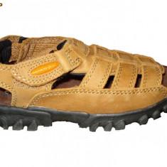 Sandale Tommy Hilfiger baieti - marimea 28.5 - Sandale copii Tommy Hilfiger, Camel, Piele naturala