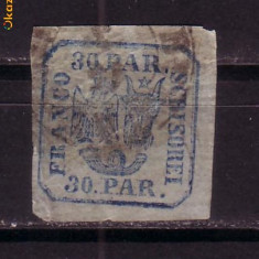 Romania L010 c 30 parale H.Vargata obliter.1862