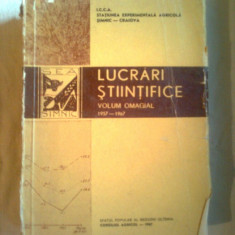 LUCRARI STIINTIFICE~ (1957-1967)~STATIUNEA EXPERIMENTALA AGRICOLA SIMNIC-CRAIOVA