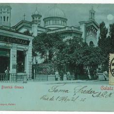 944 - GALATI - Beraria si Biserica Greceasca - used - 1901