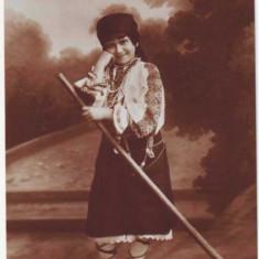 268 - Banat, Arad, ETHNIC Girl, port popular - old postcard, real PHOTO - unused - Carte Postala Banat 1904-1918, Necirculata, Fotografie