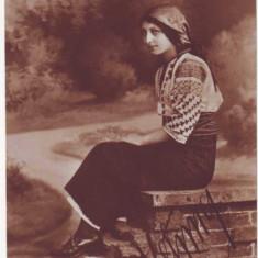 276 - Banat, Arad, ETHNIC Woman, port popular - old postcard, real PHOTO unused - Carte Postala Banat 1904-1918, Necirculata, Fotografie