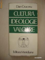 DAN CRUCERU - CULTURA IDEOLOGIE VALOARE