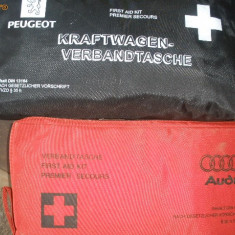 TRUSE MEDICALE-AUDI, PEUGEOT - Trusa auto prim ajutor