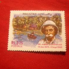Serie- 100 Ani Albert Schweitzer 1975 Pakistan, 1 val. - Timbre straine