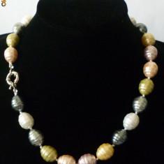 Colier perle de cultura mari colorate akoya 1, 7 cm L perla model vintage
