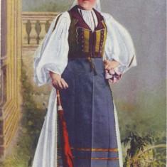 1631 - BANAT, Port Popular din TIMIS, woman - old postcard - used -1916 - Carte Postala Banat 1904-1918, Circulata, Printata