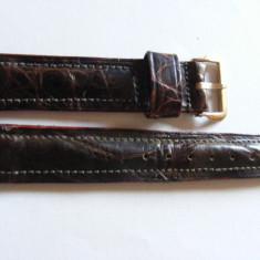 Curea ceas vintage din piele de aligator veritabila - Curea ceas piele