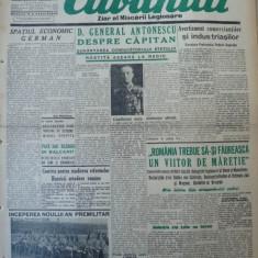 Cuvantul, ziar al miscarii legionare, 5 noiembrie 1940 - Carte Editie princeps