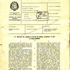 CERTIFICAT CU DESCRIEREA INVENTIEI NR. 56287 (ELEMENT DE MOBILA...) - Diploma/Certificat