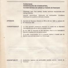 STANDARD ROMANESC STAS 13133 - REZERVOARE DE COMBUSTIBIL - Diploma/Certificat