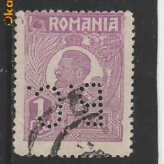 TIMBRE ROMANIA Perforat 1L lila Ferdinand uzuale RO104
