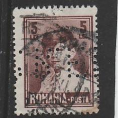 TIMBRE ROMANIA Perforat 5L - Regele Mihai I uzuale RO100