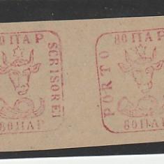 TIMBRE ROMANIA Proba 80P Moldova Cap de bour RO87