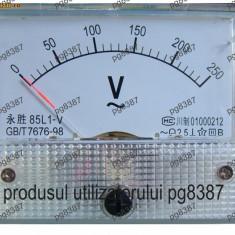 Voltmetru analogic de panou, 300V, curent continuu - 111530