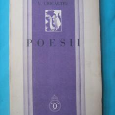 V.CIOCALTEU-POESII, PRIMA EDITIE 1934 - Carte Editie princeps
