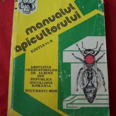MANUALUL APICULTORULUI EDITIA A 6 A ANUL 1986 , PAGINI 398 ,