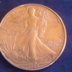 moneda americana de argint 1986