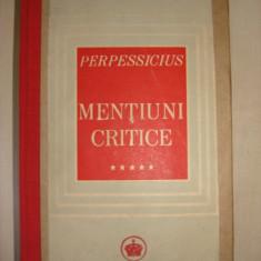 PERPESSICIUS - MENTIUNI CRITICE {1946}