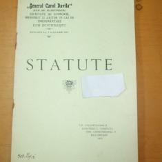 SOCIETATEA DE AJUTOR IN CAZ DE INMORMANTARE GENERAL CAROL DAVILA - Carte Editie princeps