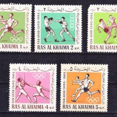 Timbre RAS AL-KHAIMA 1965 - Sport Nestampilate - Timbre straine