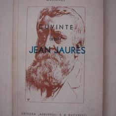 CLARNET - CUVINTE DESPRE JEAN JAURES { 1934 }