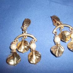 Cercei Frunza cu Perle - Cercei Fashion