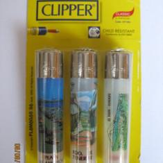 SET 3 BRICHETE COLECTIE NOI IN TIPLA MARCA CLIPPER DIN INSULELE TENERIFE - Bricheta Zippo Clipper, Tip: De buzunar