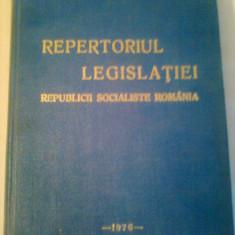 REPERTORIUL LEGISLATIEI R.S.R. ~ CONSILIUL LEGISLATIV - LEGI SI DECRETE - Carte Legislatie