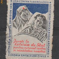 TIMBRE ROMANIA Timbru fiscal Liga contra tuberculozei RO191