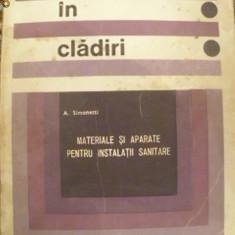 INSTALATII IN CLADIRI (MATERIALE SI APARATE PENTRU INSTALATII SANITARE)