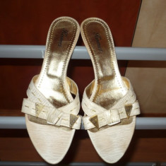 Sandale, papuci, saboti Crem, piele naturala, KISMET, nr. 38 - Sabot dama, Marime: 36.5