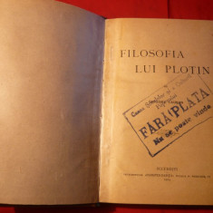 Grigore Tausan - Filozofia lui Plotin - ed. 1924
