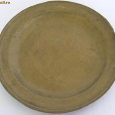 Farfurie veche din bronz