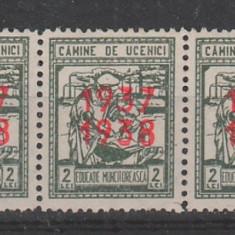 TIMBRE ROMANIA  Streif de 3 Timbru fiscal Asigurari sociale RO196