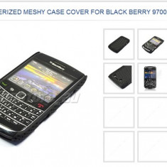 Husa silicon rigid antiradiatii blackberry 9700 mesh - Husa Telefon